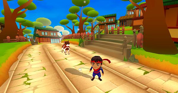 ninja kid run ios android game on behance