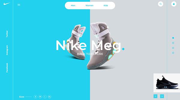Nike Website Landing Page