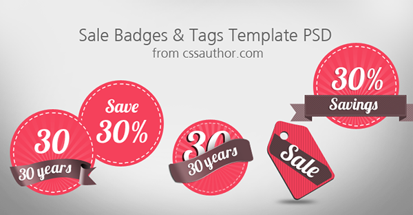 sale badges and tags template psd on behance