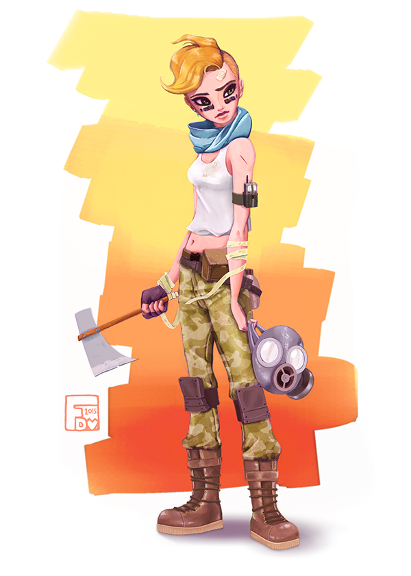 Character Design Day Challenge : Post apocalyptic character design challenge on behance