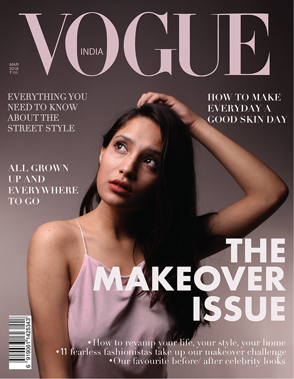 The Makeover Issue Vogue Magazine Coverpage Design On Student Show