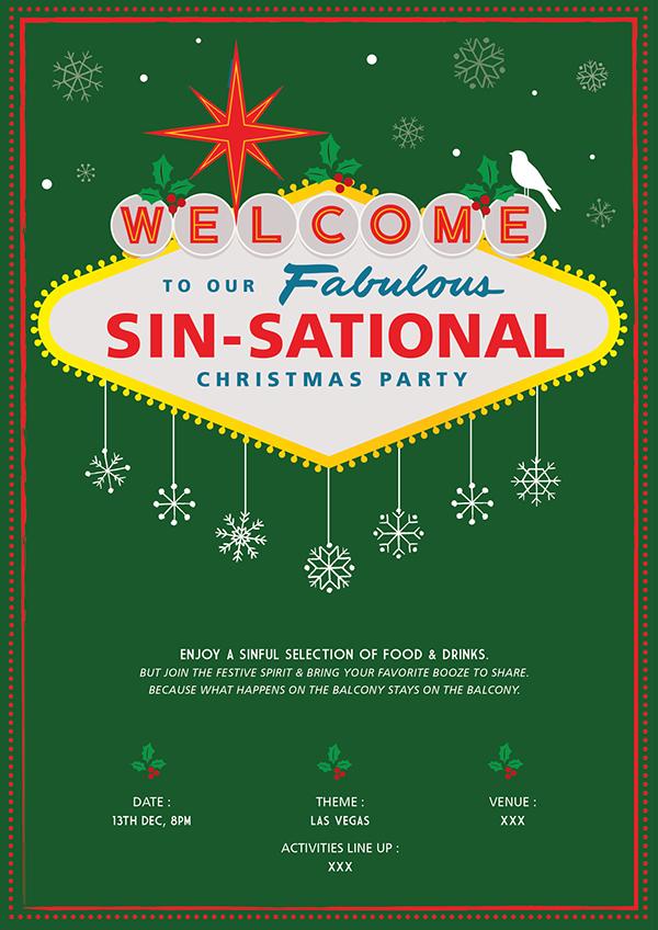 Las Vegas Christmas Party On Behance