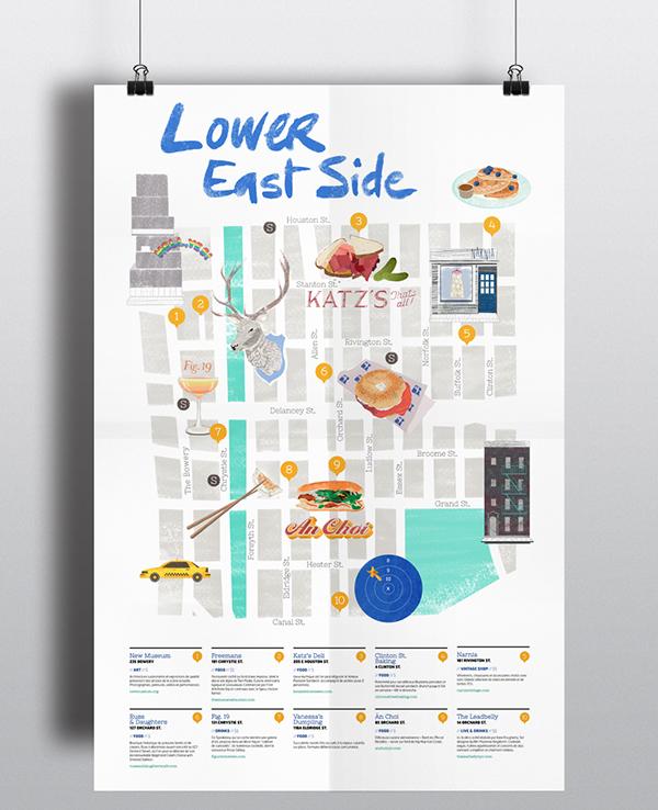 Lower East Side Map on Behance