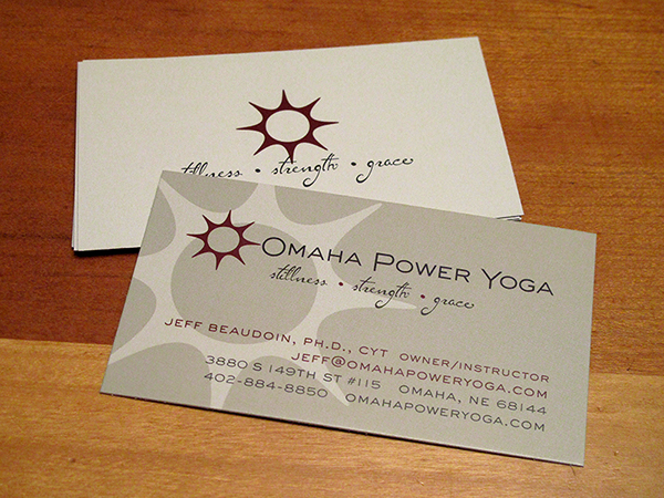 Omaha power yoga on aiga member gallery designed identitybranding for local yoga studio applied branding to business cards t shirts and to existing web site colourmoves