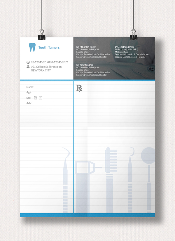 prescription pad on behance