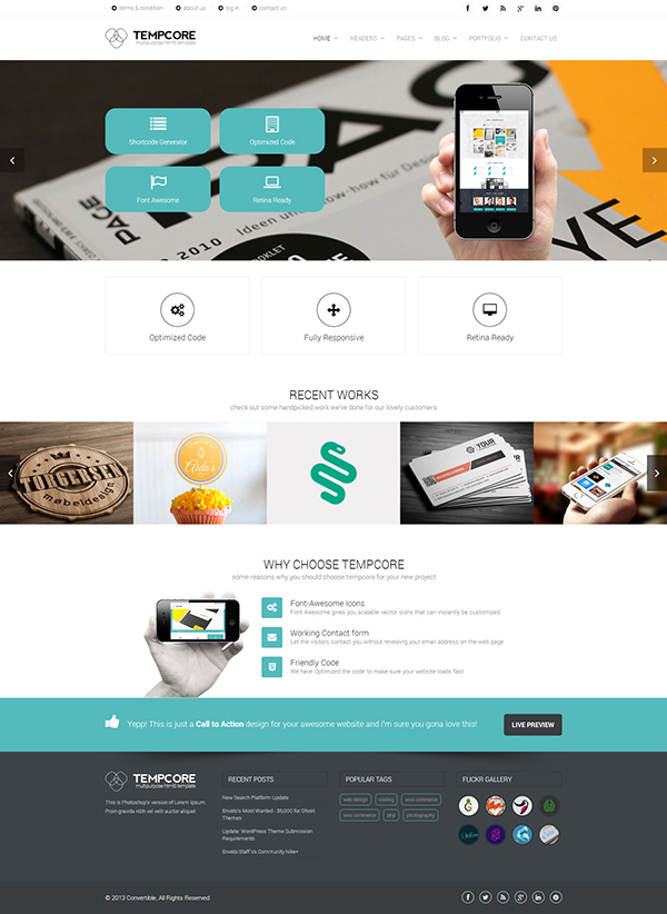 Tempcore business html5 template on behance friedricerecipe Gallery