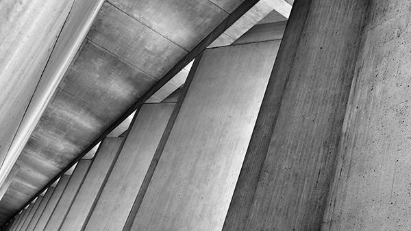 geometric lines structure building concrete