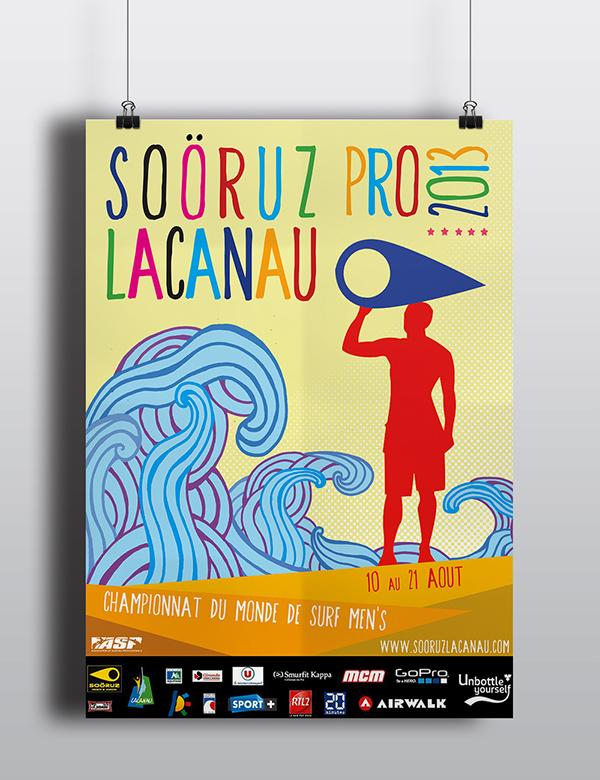 angellopez print creative affiche sooruz lacanau Surf vector