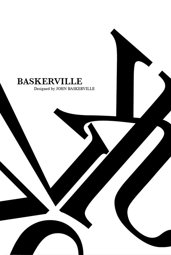 Typographic poster baskerville on behance Baskerville
