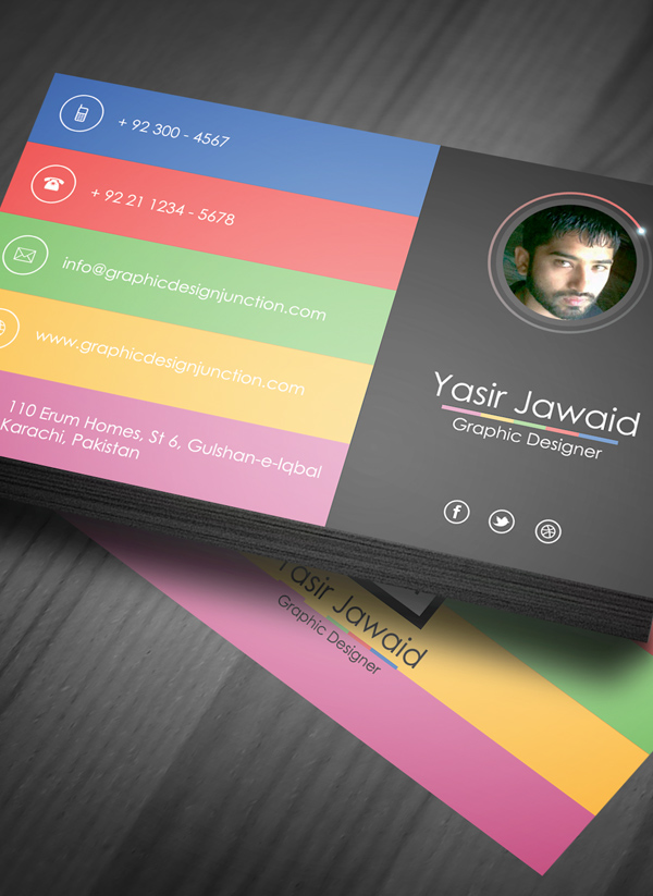 Modern business card mockup psd freebie on behance colourmoves