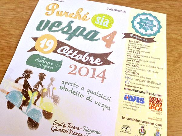 Vespa's Smile crabtoon katrin ann orbeta vincenzo valerio merenda vespa Scooter vintage color poster