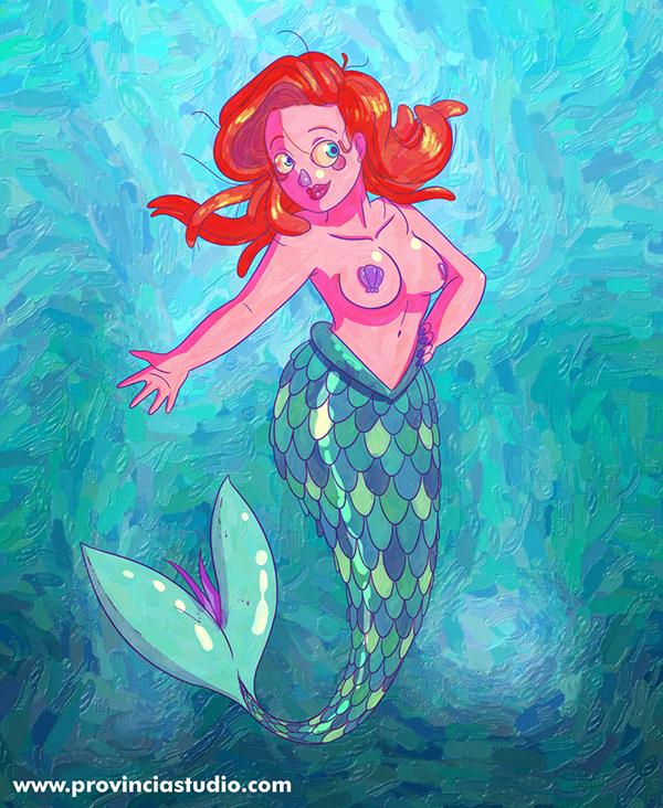Ariel, the Little Mermaid (Fanart) on Wacom Gallery