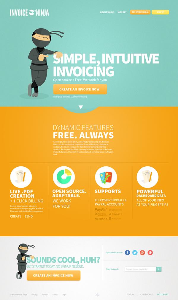 invoice ninja website design logo design proposition on behance