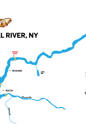 Maps on behance for Salmon river ny fishing map