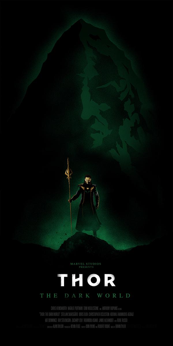 "Thor: The Dark World illustrated poster - ""Loki"" on Behance"