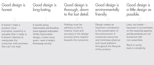 Iterature review ondieter rams 10 principles