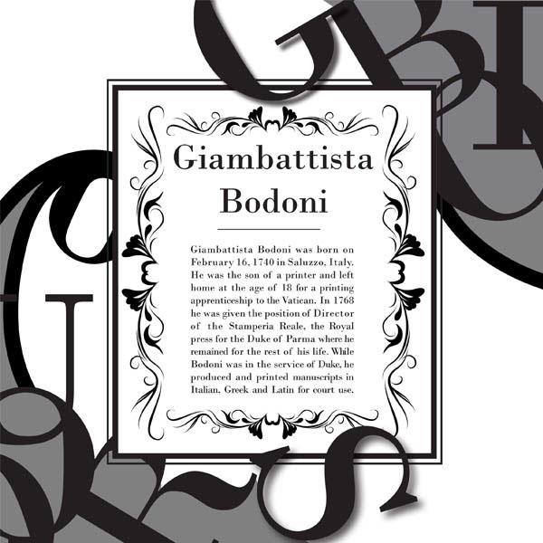 Giambattista Bodoni Poster On Behance