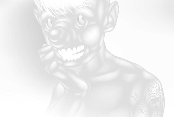 ustsinau White black tattoo