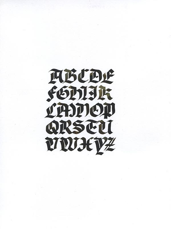type calli Rotunda copperplate