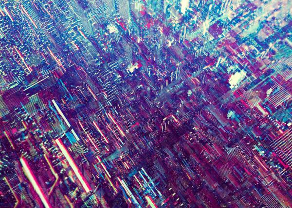 neon Cities colorful Retro vintage
