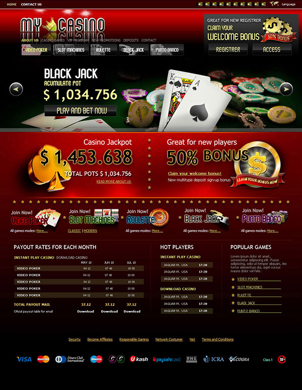 casino website templates