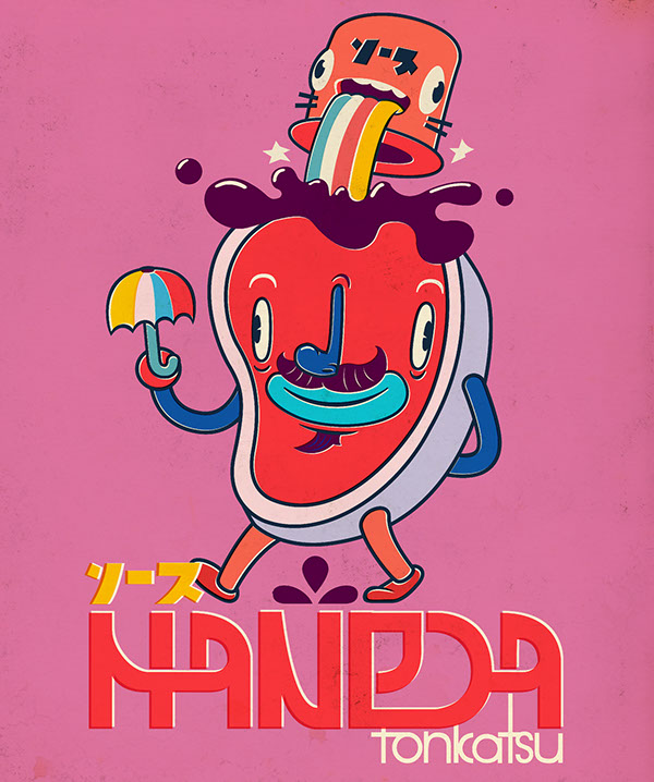 toys vintage japanese characters ad characters Retro colorful weird chracters persoanjes personajes disel diseño