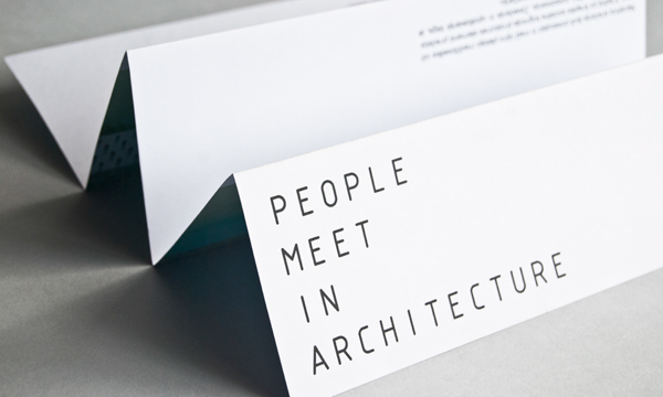 People meet in architecture on Behance