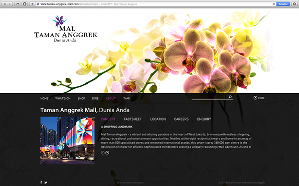 Taman Anggrek Mall tami jakarta indonesia Shopping mall commercial orchid flower tropic