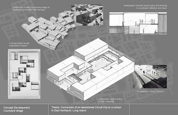 Thesis: Converting abandoned big-box stores to schools on Pratt