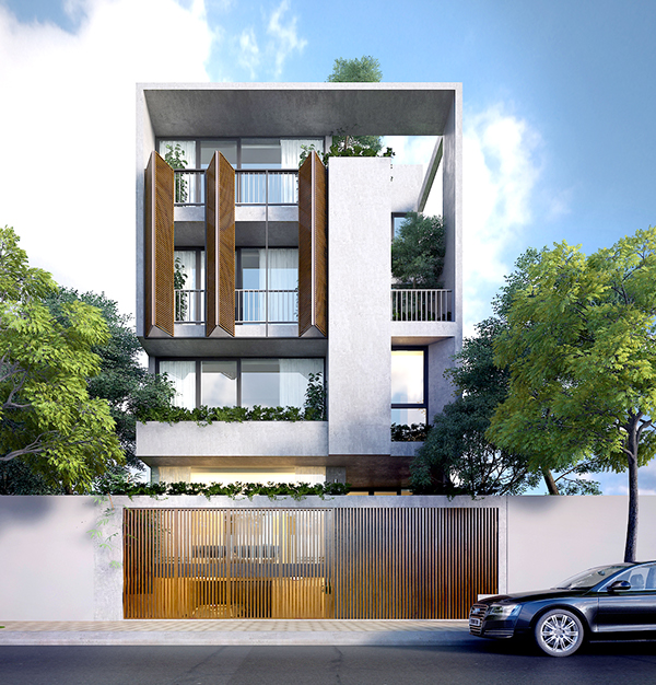 9x11 house on behance for Minimalist narrow house