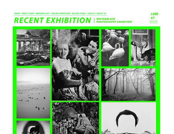 LOOK AT online art&design gallery(web design homework)