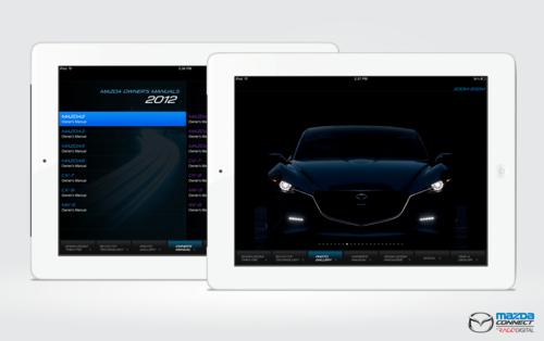 Mazda Connect iPad App on Pantone Canvas Gallery