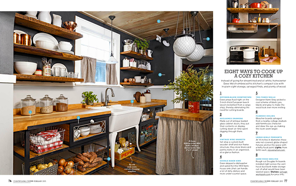 kitchen exposed shelving Open shelving reclaimed magazine country Rejuvenation lighting barnwood crane sink