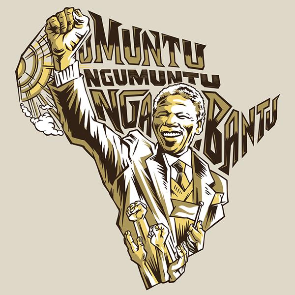 south africa Nelson Mandela Black creative