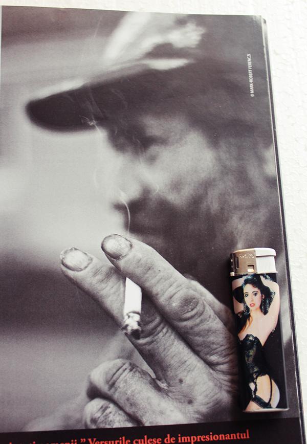 object magazine photograph installation