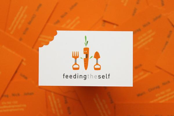 die-cut carrot business card Corporate Identity bright orange durban south africa print illustrated logo Unique creative design