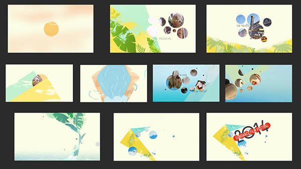tribal Festival Storyboards trailer bright motion grahics