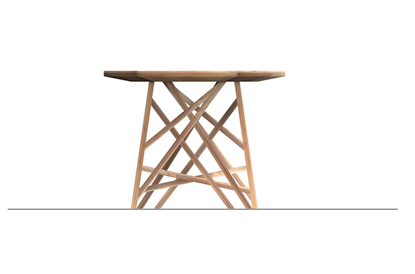 table networking oak On Demand RECYCLED green facade madrid carmen