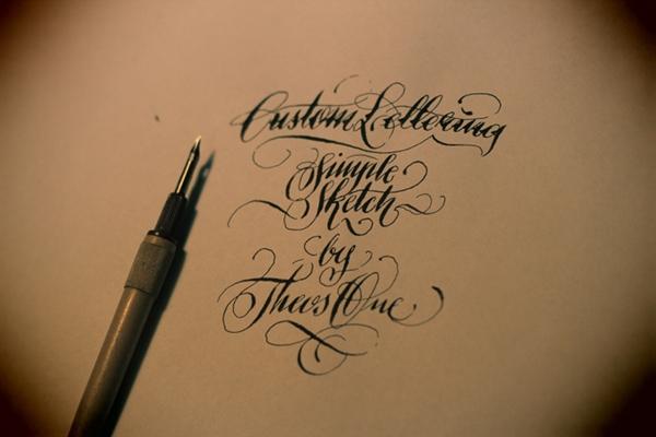 theosone lettering chicano Custom calligraffiti kaligrafia Liternictwo hand sketch video graphic
