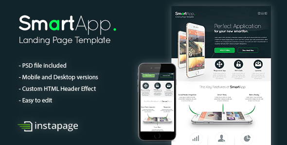 app application clean Custom drag and drop jquery landing page marketing   mobile modern product software web app