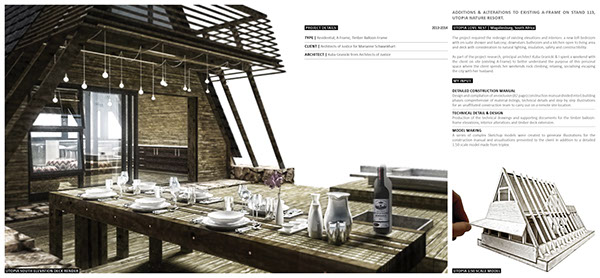 UTOPIA LOVE NEST - Timber A-Frame on Pantone Canvas Gallery