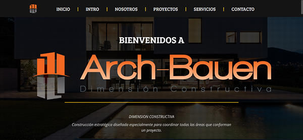 Arch bauen dimensi n constructiva on behance - Bauen empresa constructora ...