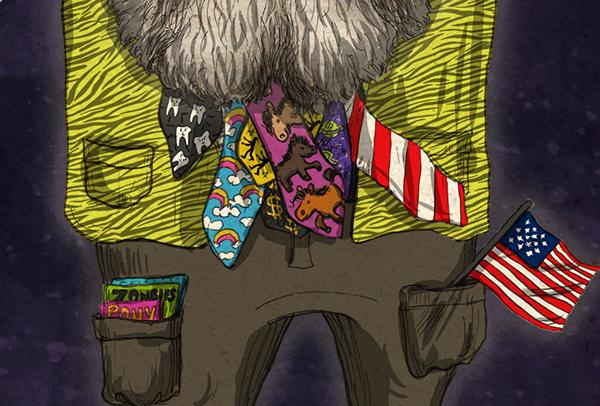 verminsupreme vermin supreme president candidate anarchist pony usa zombie Toothbrushing