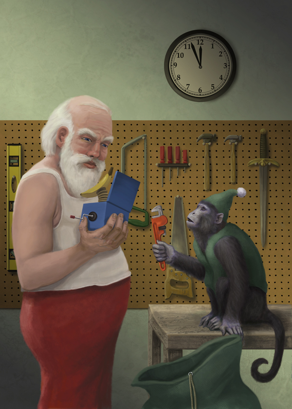 Santa's Monkey Slaves