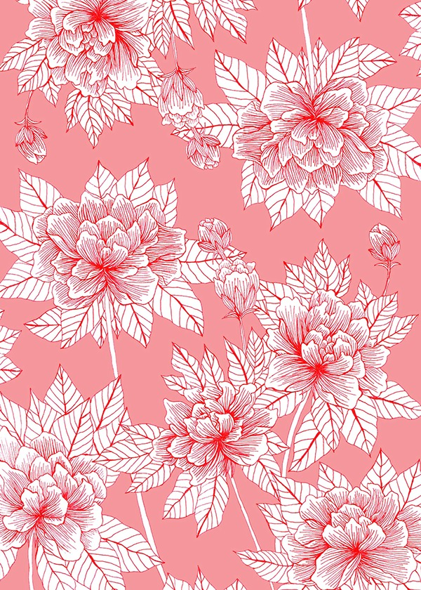 Chinese Flower Pattern Pattern of Chinese Flower