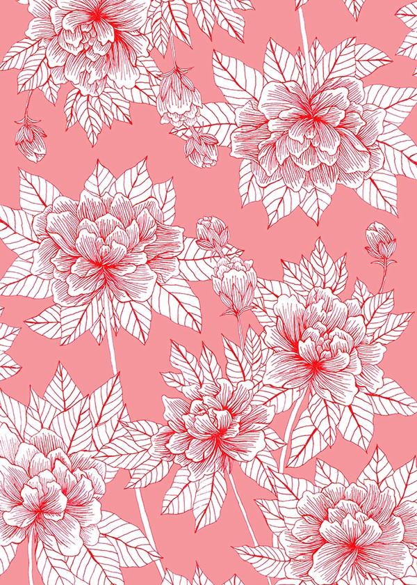 Chinese Flower Pattern Chinese Flower Pattern