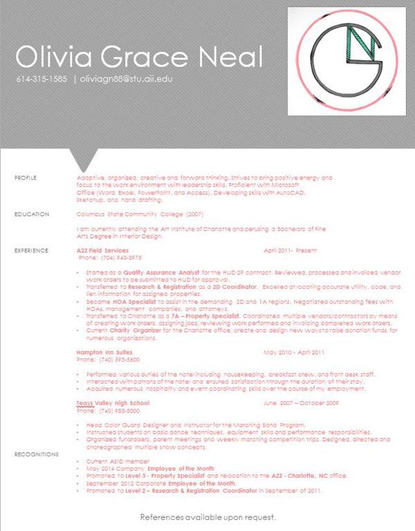cover letter resume idea on the art institutes portfolios
