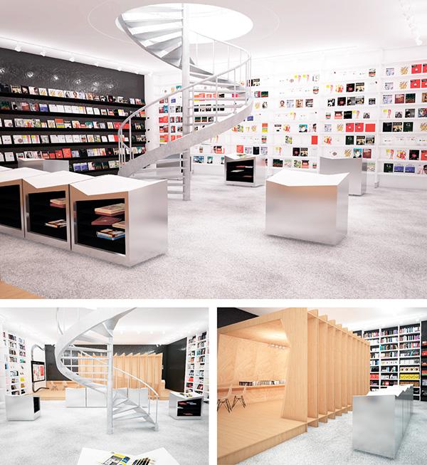 Interior shop book store design Corporate Identity