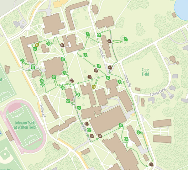 Haverford College Campus Maps On Behance