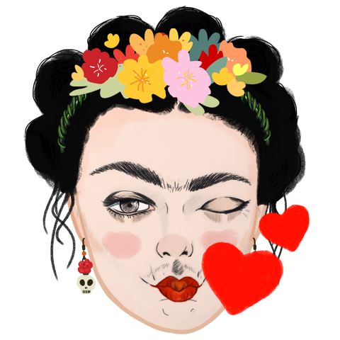 WUWU People- Frida Kahlo Emoji Design on Pantone Canvas ...
